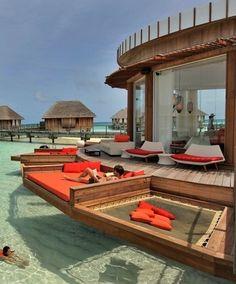 Awesome Setting at Bora Bora.