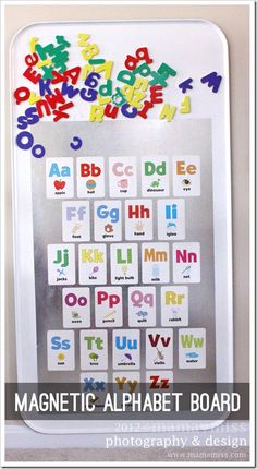create kiddo: magnetic alphabet board - Mama Miss