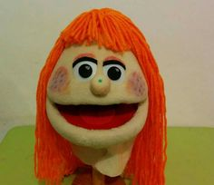 A sweet redhead puppet made for a kinder garden teacher