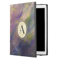 Customizable Monogram Purple Textured iPad Case - monogram gifts unique design style monogrammed diy cyo customize