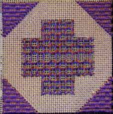 Jubilee needlepoint Sampler Free Project in Laidwork, designed by Janet M. Perry and found on Nuts about Needlepoint