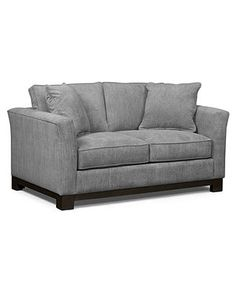 "Kenton Fabric Loveseat, 64""W X 38\""D X 33\""H: Custom Colors Similar to the other option I pinned from West Elm $768"