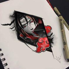 Itachi hero of Konoha Itachi Uchiha, Gaara, Anime Naruto, Naruto Art, Manga Anime, Naruto Tattoo, Naruto Drawings, Arte Ninja, Naruto Pictures