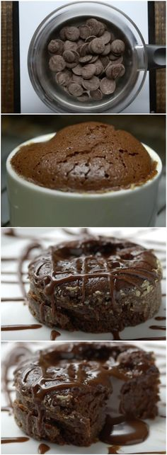 Bolo Lava de Chocolate, divinamente delicioso! (veja a receita passo a passo) #bolo #chocolate #bolodechocolate #bololavadechocolate Cupcakes, Cake Cookies, Dessert Decoration, Fat Foods, Chocolate Cake, Sweet Recipes, Delicious Desserts, Deserts, Food And Drink