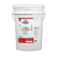Augason Farms Long Grain White Rice Pail, 42 lb * Check out the image by visiting the link.