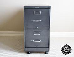 Great looking Steelcase File Cabinet redo - by industrialcaffeine.com
