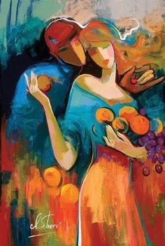 """Irene Sheri Handsigned and Numbered Limited Edition Embellished Giclee on Canvas: """"Sweet Harvest"""" Artist: Irene Sheri Title: Sweet Harvest Image Size: x Edition: Artist Hand Signed and Numbered Limited Edition to 95 Medium: Fine A Arte Pop, Figure Painting, Painting & Drawing, Art And Illustration, Fine Art, Figurative Art, Watercolor Art, Pop Art, Art Projects"""
