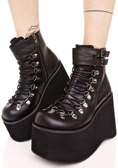 5e94be4a3c3 Demonia Kera Lace-Up Platform Boots cuz yer street style always towers  above tha rest