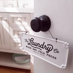 Enamel Laundry Co Sign - Farmhouse Wares Vintage Laundry Room, Pantry Sign, Wash Dry Fold, Vintage Laundry, Signs, Grain Sack Pillows, Sign Display, Hanging Signs, Wire Hangers