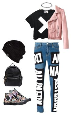 Pop Punk by pupuwang on Polyvore featuring French Connection, Love Moschino, Converse, Dsquared2, Boohoo and UGG Australia