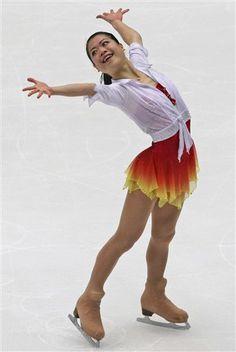 Akiko Suzuki -Red Figure Skating / Ice Skating dress inspiration for Sk8 Gr8 Designs.