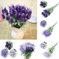 Free Shipping Retro 10 Head Fake Bouquet Wedding Artificial Flower LAVENDER Home Wedding Decor-in Decorative Flowers & Wreaths from Home & Garden on Aliexpress.com