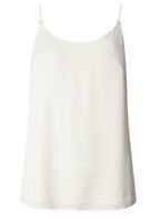 Womens **Tall Ivory Metal Trim Camisole Top- White