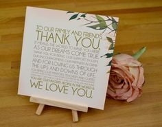 PRINTABLE Blissfully Bohemian Wedding Thank You by EAlexDesigns