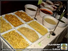 the pasta station looked like a mix and match table of pasta and ...