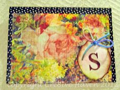 Handmade envelope created for Susan's farewell card