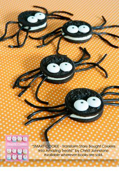 Spider Cookies From Smart Cookie Cookbook