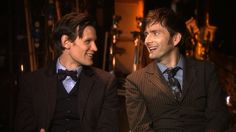 Matt Smith and David Tennant Behind the Scenes of the Doctor Who 50th Anniversary Special - BBC ---There are no words for how much I'm in love with this. They're like two fan-boys gushing <3 <3.
