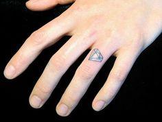 diamond finger tattoo