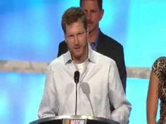 Dale Earnhardt Jr. at NASCAR Hall of Fame induction ceremony
