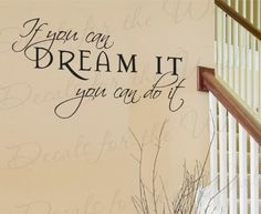 If You Can Dream Do It - Inspirational Motivational Inspiring Walt Disney - Vinyl Wall Decal, Quote Sticker, Lettering Art Letters Decor, Saying Decoration