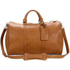 Sole Society Cassidy Vegan Weekender (1,455 MXN) ❤ liked on Polyvore featuring bags, luggage and cognac
