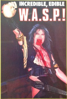 Raise your Blood Skull it's the One & Only Blackie Lawless of W.A.S.P. #BlackieLawless #wasp