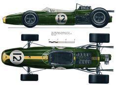 1966 Brabham Repco BT 19 World Champion with Jack Brabham