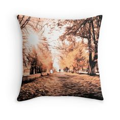 """Autumn mood"" Throw Pillows by floraaplus 