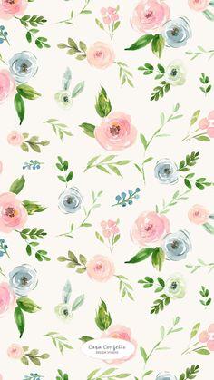 New wallpaper floral vintage pretty patterns ideas Flowery Wallpaper, New Wallpaper, Pattern Wallpaper, Iphone Wallpaper, Pastel Flowers, Love Flowers, Pretty Patterns, Flower Patterns, Flower Backgrounds