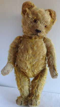 Antique Vintage German Schuco Mohair Teddy Bear 1930s 19"