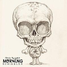 Boney tails… #morningscribbles