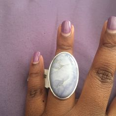 Antique stone Antique stone ring with hues of lavender and blue in a silver setting NWT SZ 7 Jewelry Rings