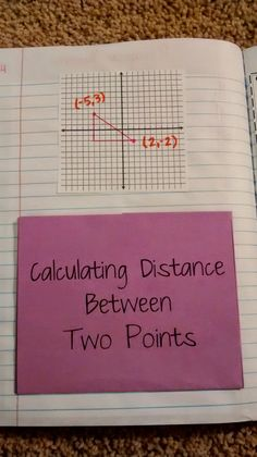 Calculating Distance Between Two Points Notes from Jessie Hester