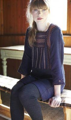 luna folk dress.  spanish-inspired embroidery.  viscose.   (plümo ltd)  [love plumo!]