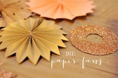 DIY: Paper Fans. perfect for a hot, summer wedding!