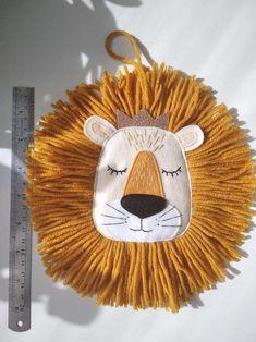 Lion Wall Art, Art Wall Kids, Art Kids, Felt Crafts, Diy And Crafts, Safari Room, Safari Theme, Safari Nursery, Diy For Kids