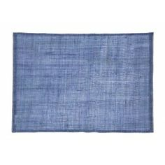 Natural linnen placemat in blue from Dixie