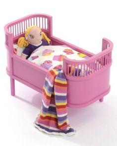 Smallstuff Postýlka pro panenky Rosalina Růžová