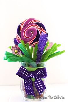 Spring Candy Bouquet..... It's all CANDY!!! How cute!!