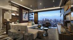 Sala grande y moderna
