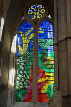David Hockney Creates Stained-Glass Window for Westminster Abbey - Galerie David Hockney, Alcohol Ink Glass, Alcohol Inks, Stained Glass Cookies, English Artists, Stained Glass Panels, Westminster Abbey, Window Art, Window Design