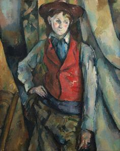 Paul Cézanne boy in a red waistcoat oil on canvas; 89.5 x 72.4 cm National Gallery of Art, Washington