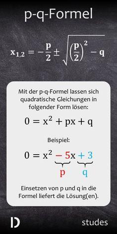 Mit der p-q-Formel kannst du ziemlich einfach quadratische Gleichungen lösen. Wie das genau geht, erfährst du im Video | studes