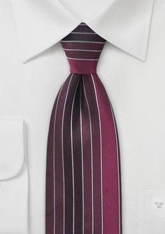 Eccentric Striped Tie in Cranberry Red Color Inspiration, Mens Fashion, Latest Fashion, Tie, Eccentric, Design, Gentleman, Wedding, Clothing Branding