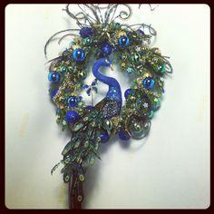 Miniature peacock wreath.