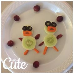 Fun food for toddlers. Duck made out of veggies