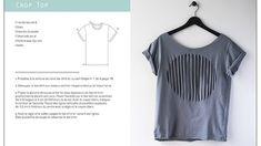 1 T-shirt : 25 possibilités - Éditions Carpentier T Shirt Diy, Tee Shirts, Tees, Jeans Et T-shirt, Couture, Refashion, Ruffle Blouse, Crop Tops, Pattern