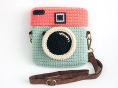 Crochet Diana Colorful Pastels Purse Size 6.5 inch by meemanan, $33.00