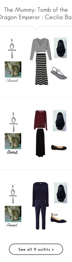 """""""The Mummy: Tomb of the Dragon Emperor : Cecilia Bay"""" by em77sutton ❤ liked on Polyvore featuring Monki, Cardigan, IPANEMA, Fred Perry, Just Cavalli, Diane Von Furstenberg, Osman, Chloé, Yumi and Charles by Charles David"""